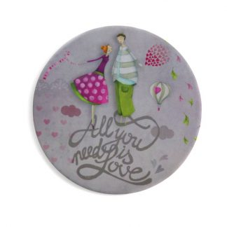 MIROIR DE POCHE ALL YOU NEED IS LOVE