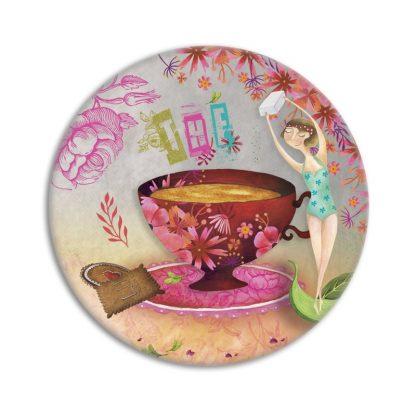 MIROIR DE POCHE TEA TIME