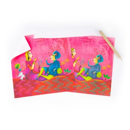 CARTE ET MICROFIBRE ILLUSTREE INDIA