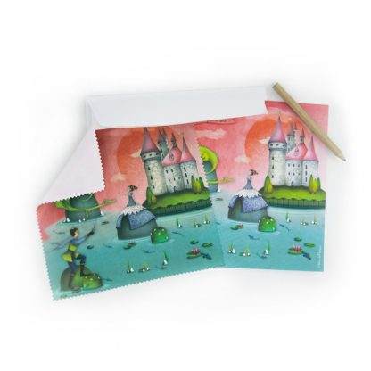CARTE ET MICROFIBRE ILLUSTREE PRINCESSE