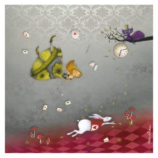 CARTE ET MICROFIBRE ILLUSTREE ALICE