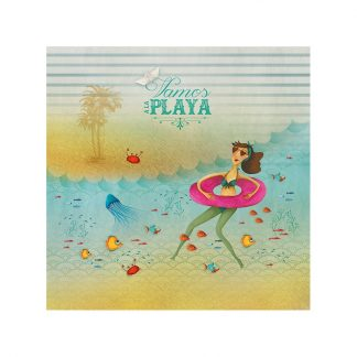 CARTE ET MICROFIBRE ILLUSTREE PLAYA