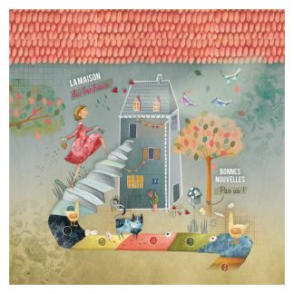 CARTE ET MICROFIBRE ILLUSTREE MAISON