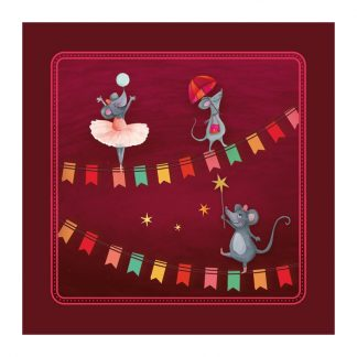 COUPON CIRCUS MEDAILLON SOURIS